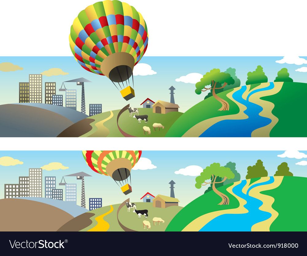 Flying balloon vector image