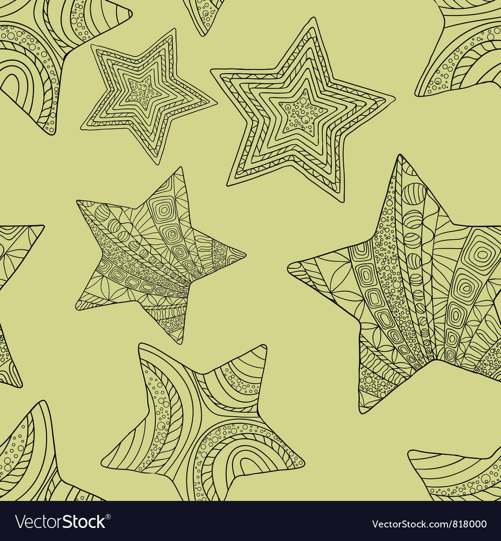 Decorative stars background vector image