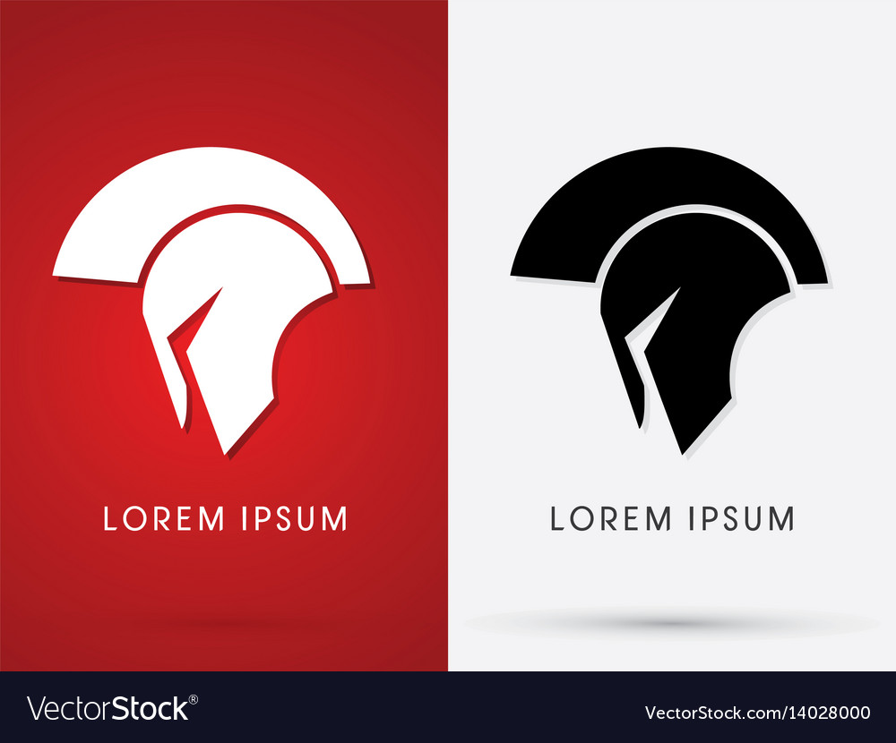 Roman or greek helmet spartan vector image