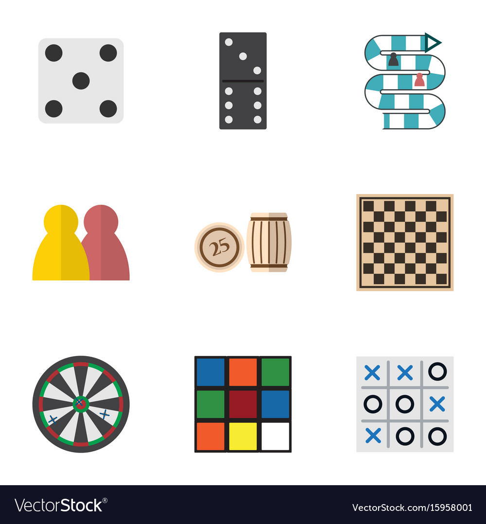 Flat icon entertainment set of cube people arrow vector image