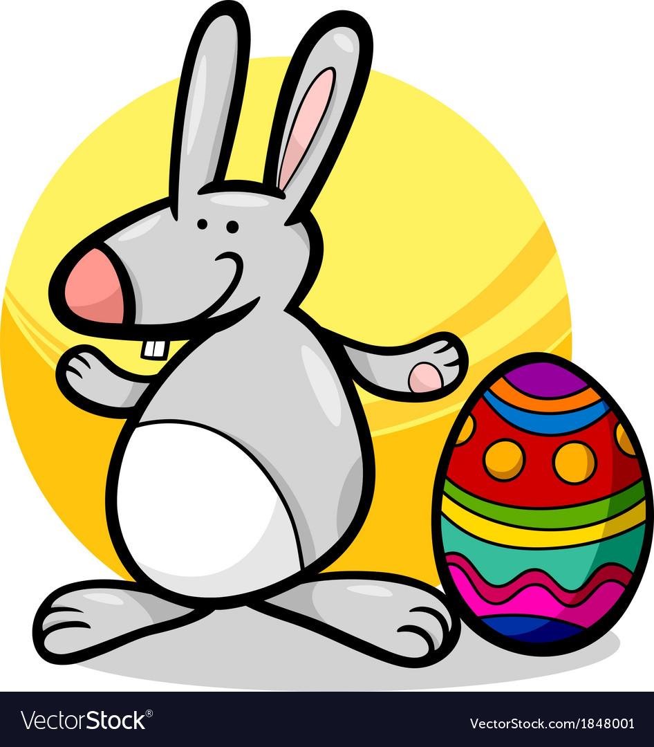 funny easter bunny cartoon royalty free vector image