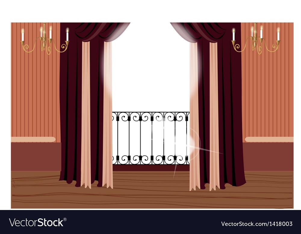 Elegant Balcony Interior vector image