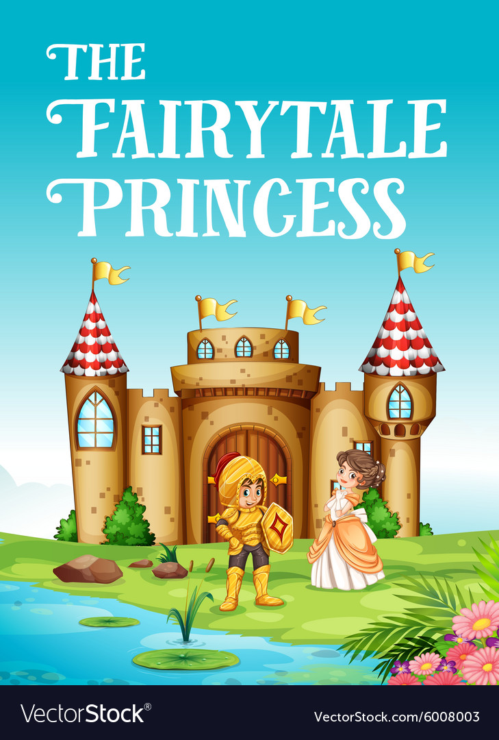 Fairy tale princess and knight vector image