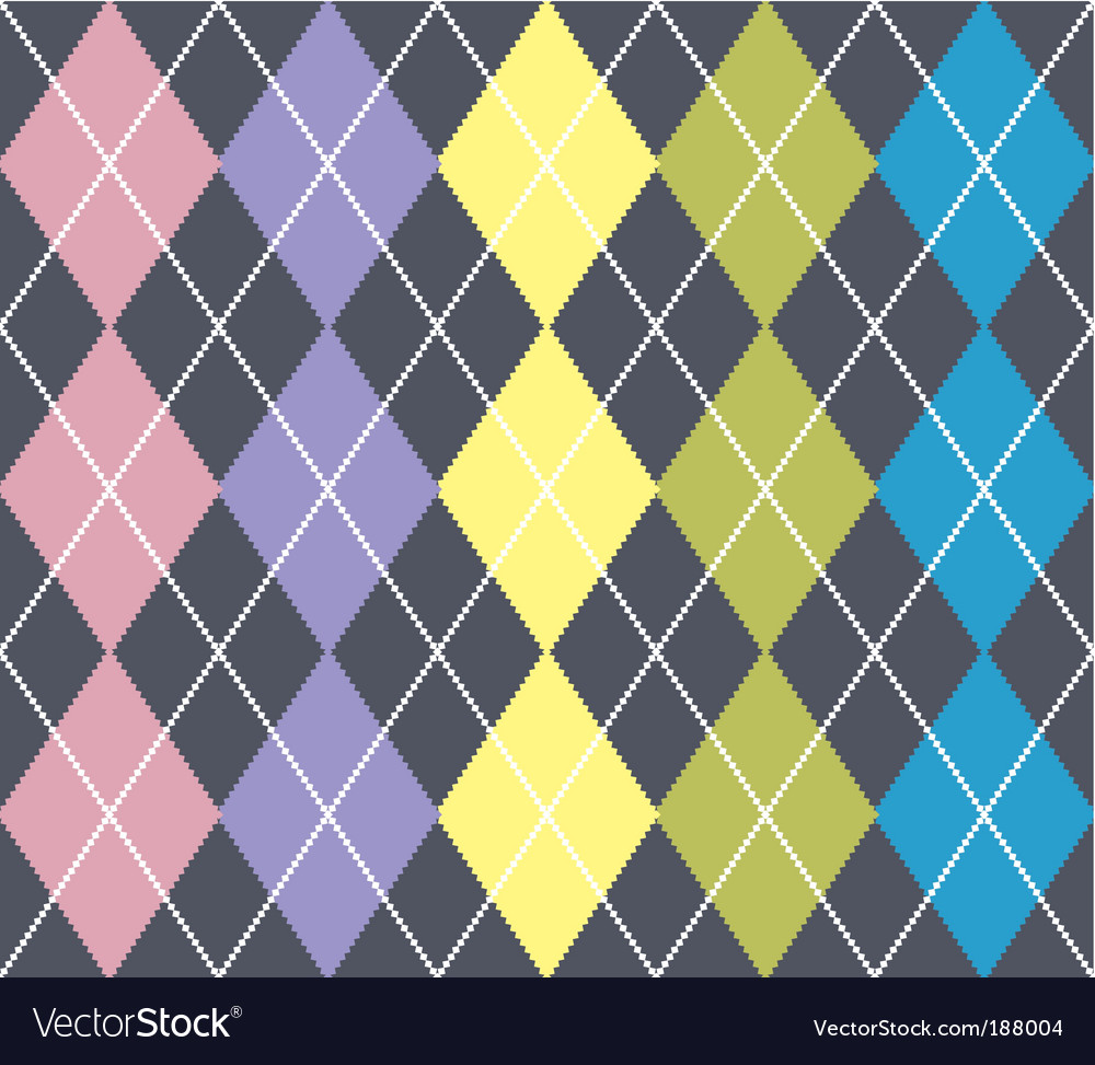 Argyle pattern vector image
