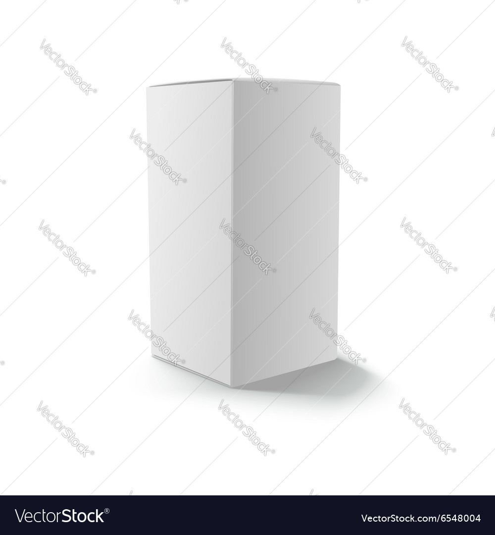 Blank gray box isolated vector image