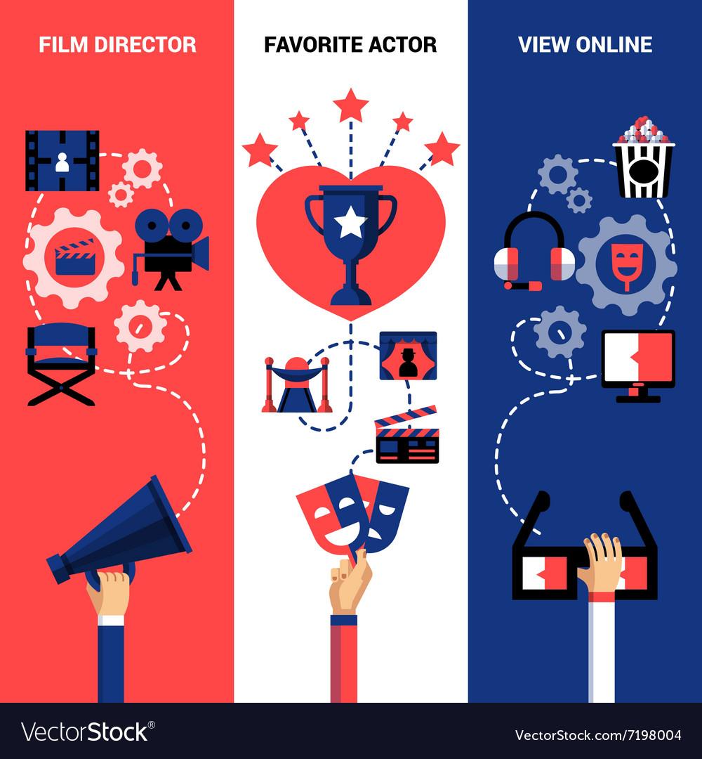 Vertical Cinema Festival Banners vector image