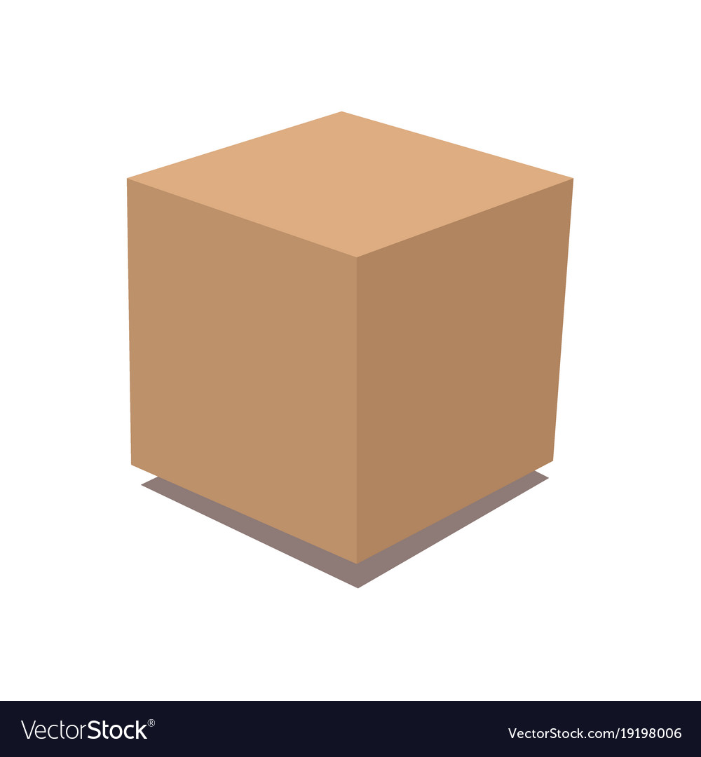 Cardboard box delivery and packaging vector image