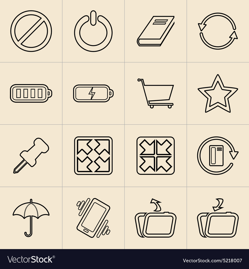 Digital Marketing Line Icons vector image
