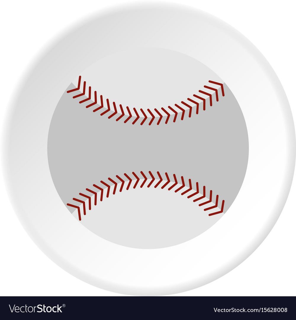 Softball ball icon circle vector image
