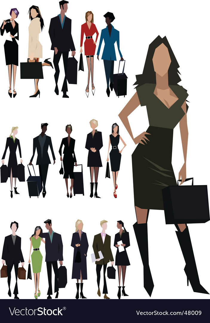 Angular people vector image