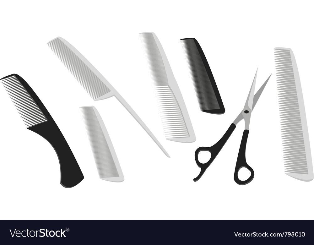 Hairdressing scissors vector image