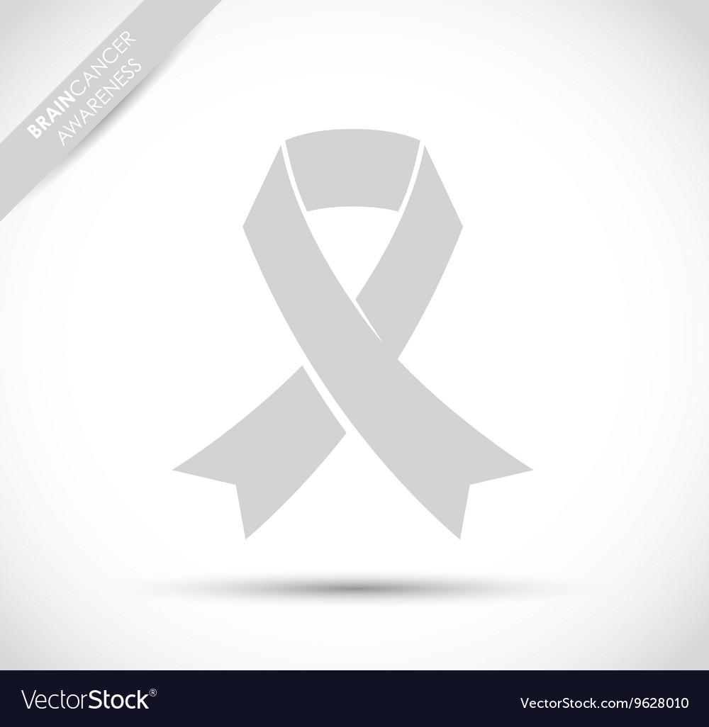 Brain cancer awareness vector image