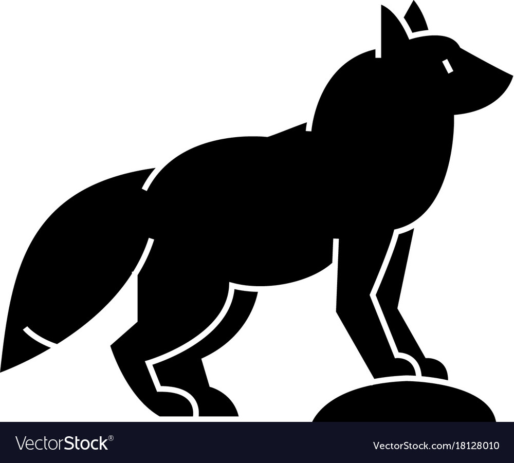 Fox icon sign on isolate vector image