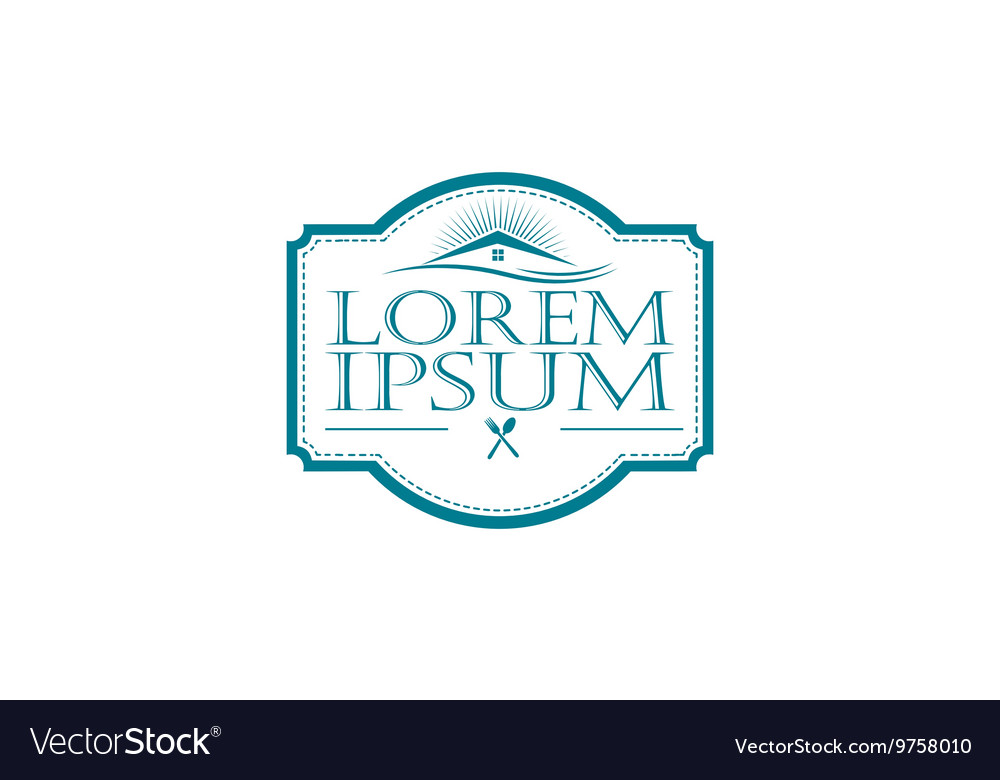 Restaurants and catering companies icon vector image
