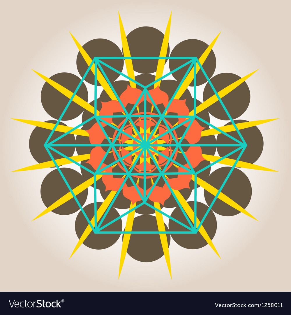 Geometrical design with sacral sense vector image
