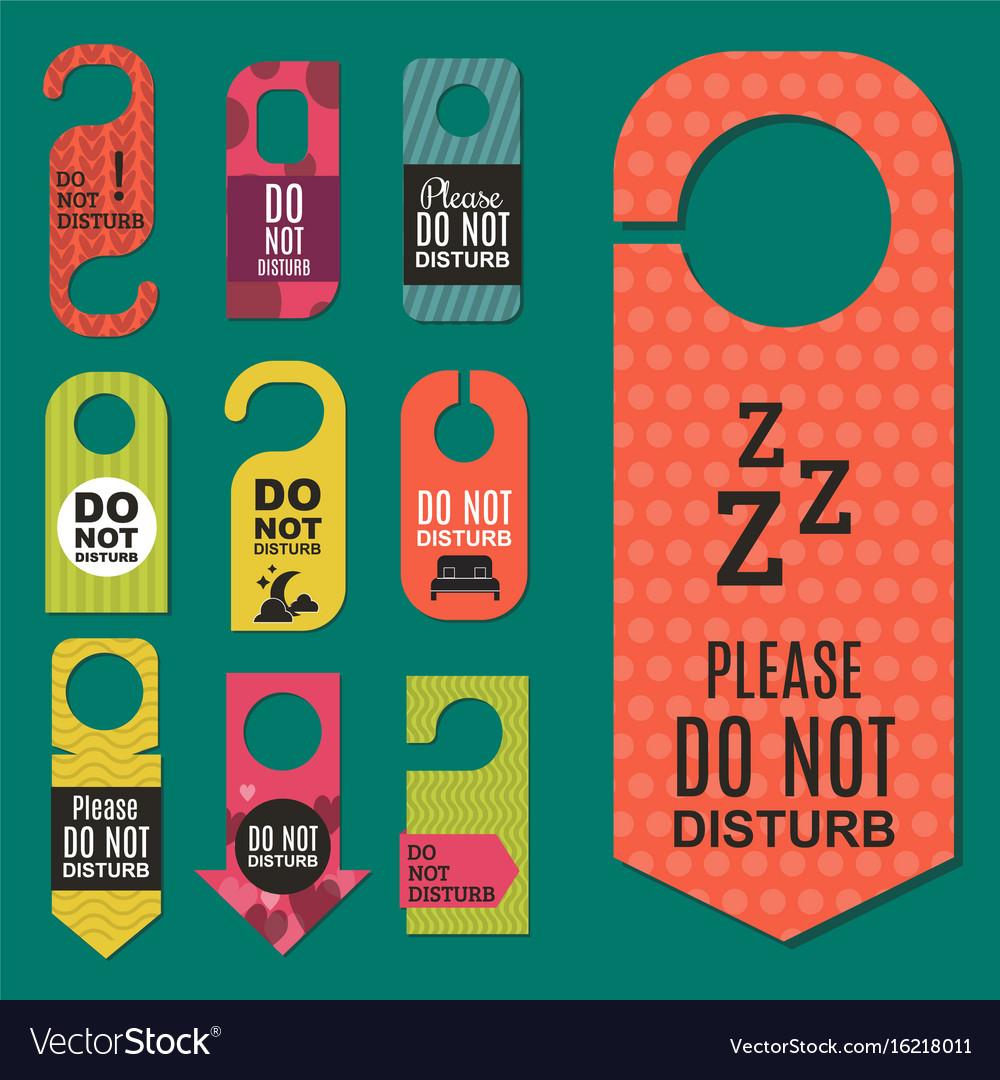Please do not disturb hotel door quiet motel vector image  sc 1 st  VectorStock & Please do not disturb hotel door quiet motel Vector Image pezcame.com