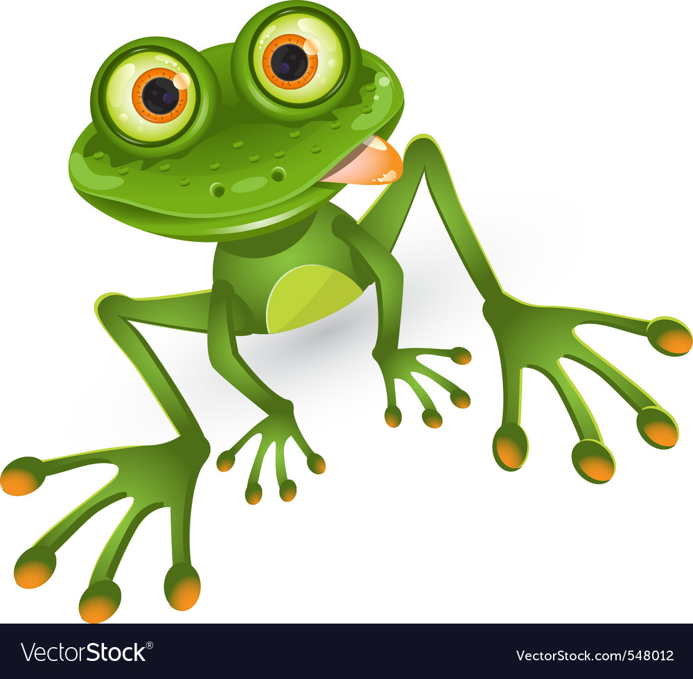 Frog royalty free vector image vectorstock for Frog agency