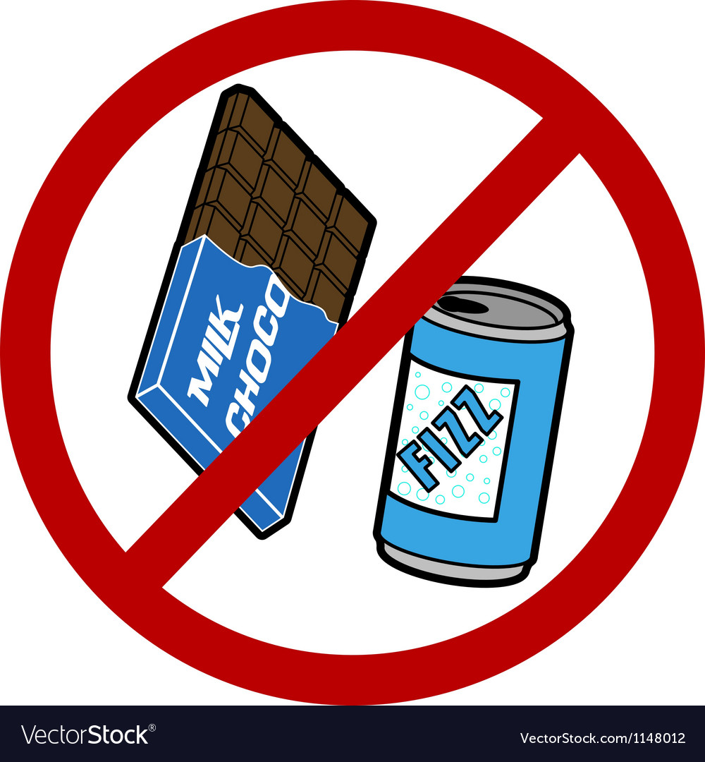 No food or drink sign vector image