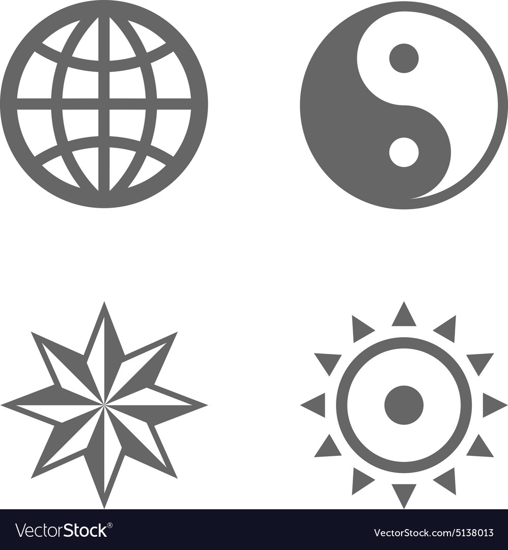 Four nice sign icons of eternal essence vector image