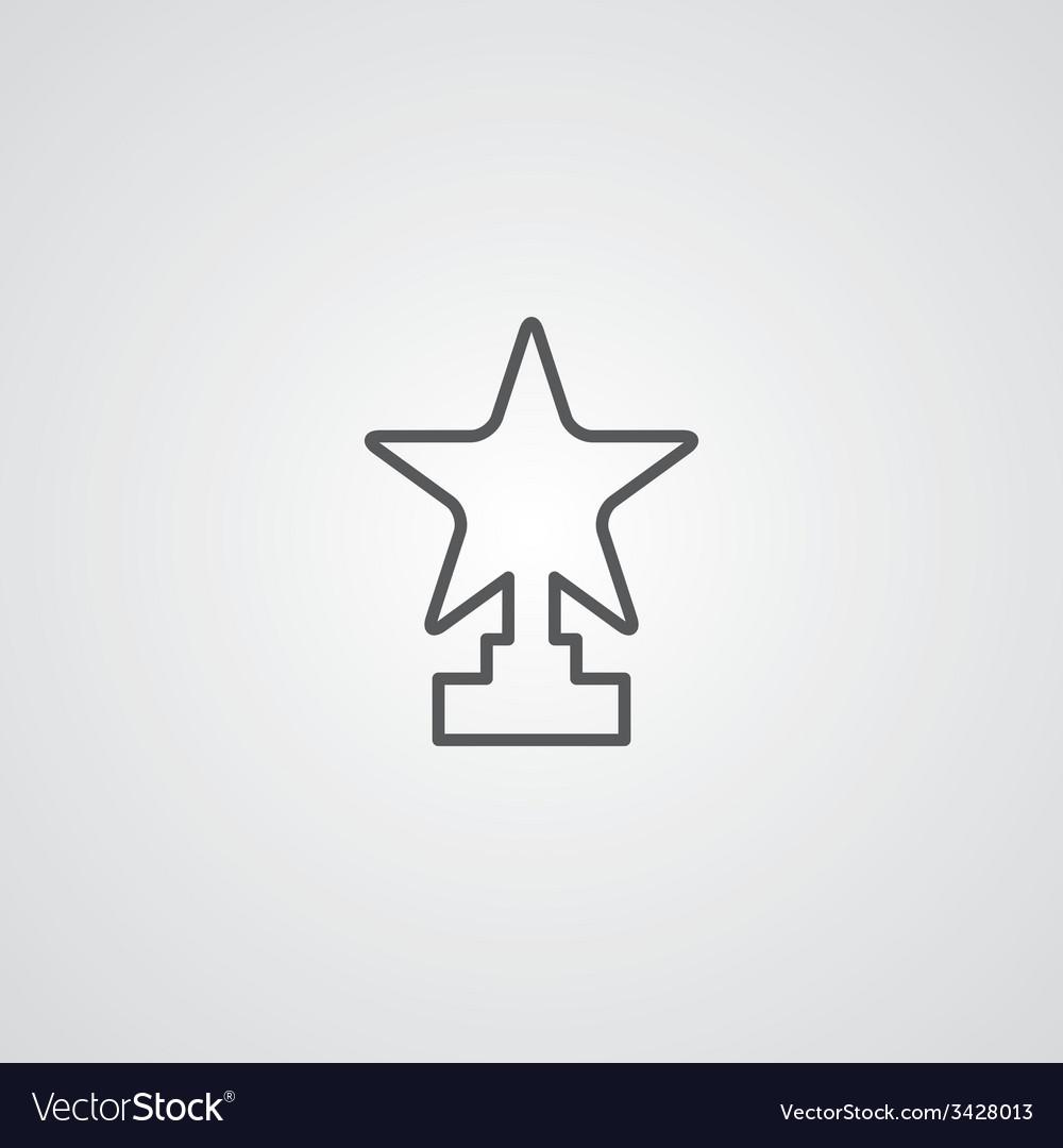 Star outline symbol dark on white background logo vector image star outline symbol dark on white background logo vector image sciox Images