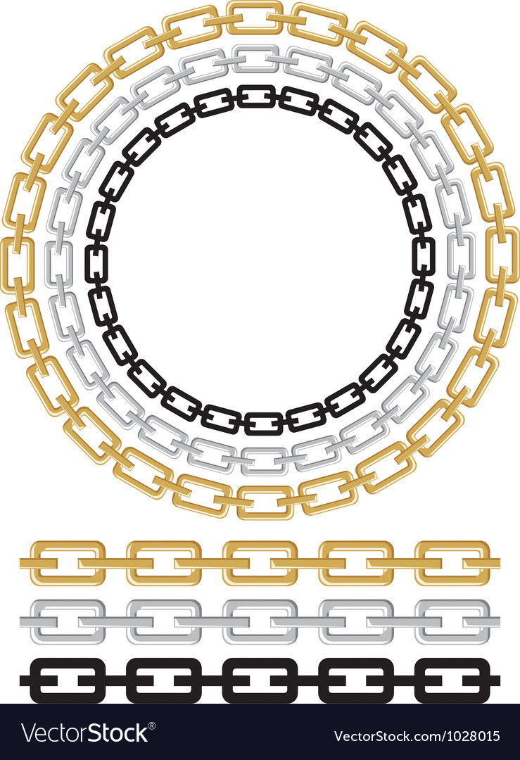 Set of chain vector image