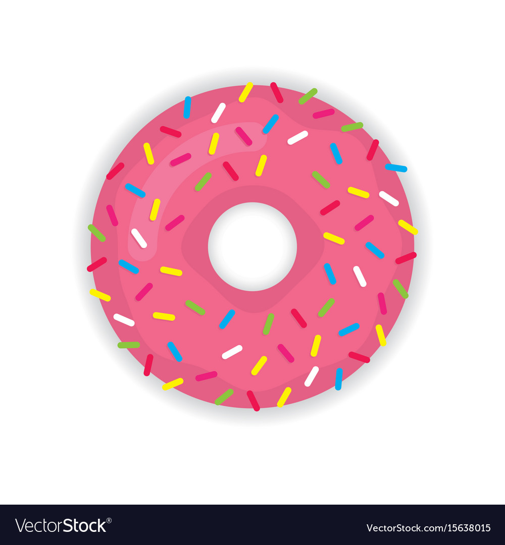 Donut icon modern flat vector image