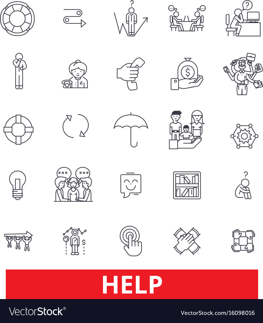 Help assistance support carecharity aid vector image