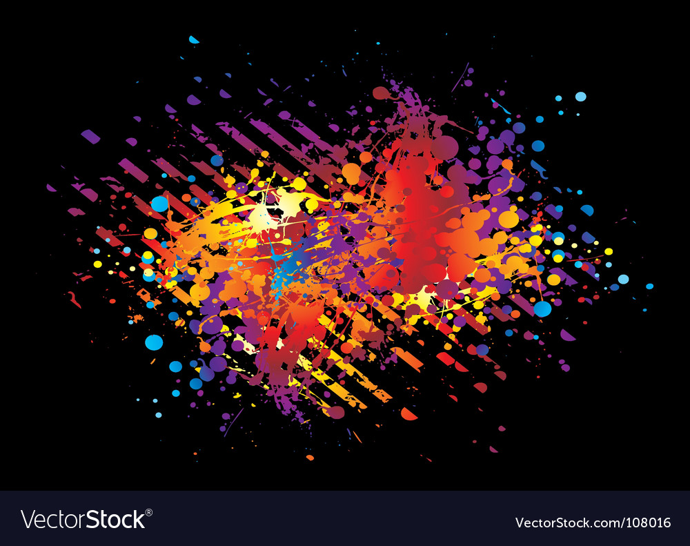 Paint blackstripe vector image