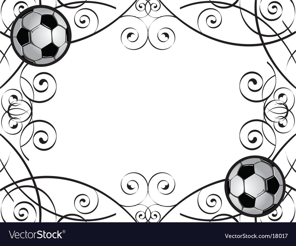 Soccer frame royalty free vector image vectorstock soccer frame vector image jeuxipadfo Images