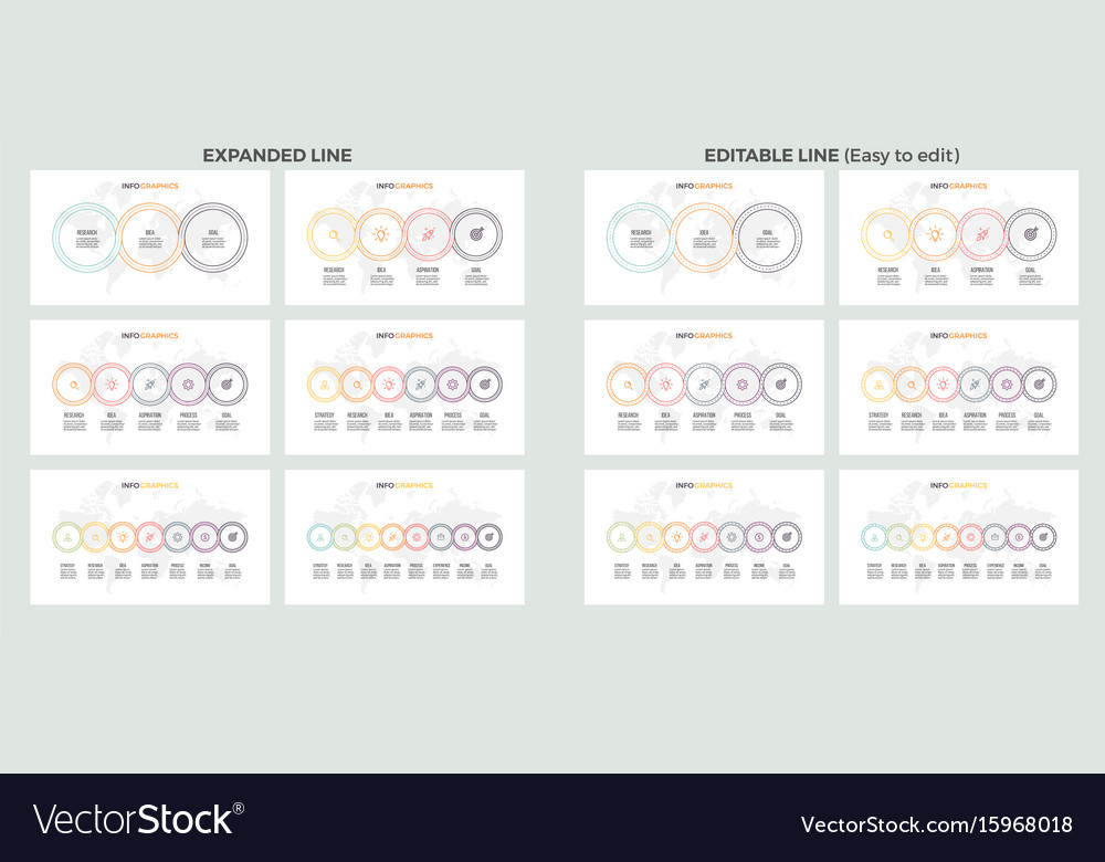 Business presentations large set of vector image