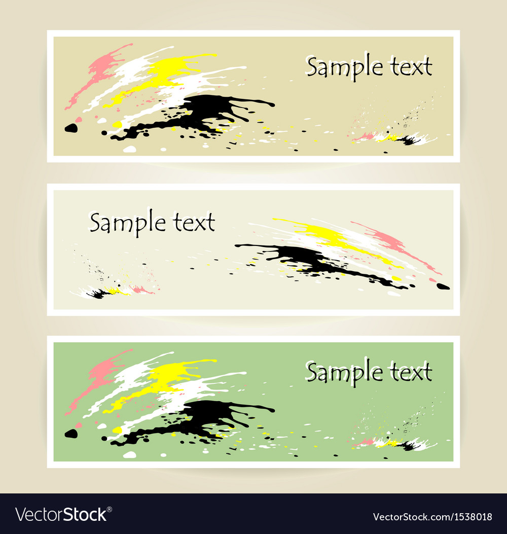 Set banners with spot of colors vector image