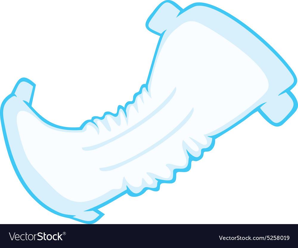Cartoon diaper vector image