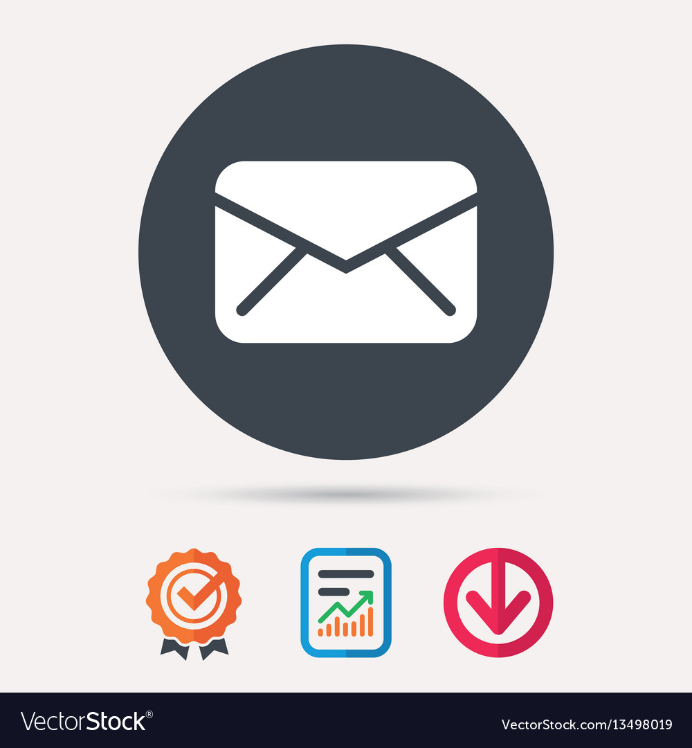 Envelope icon send message sign vector image