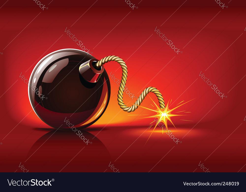Lit bomb vector image