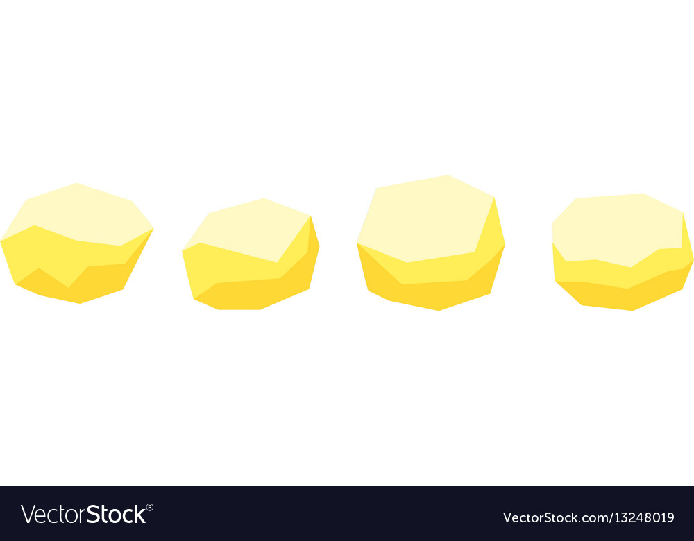 Peeled raw potatoes flat icons for food vector image