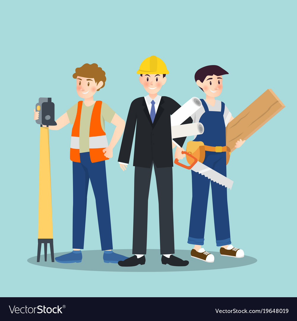 Set of different career profession people vector image