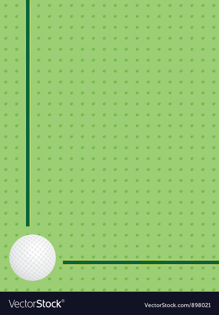 Background with golf ball Vector Image