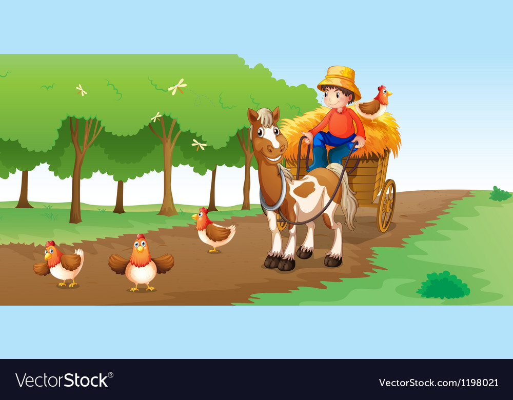 A farmer vector image