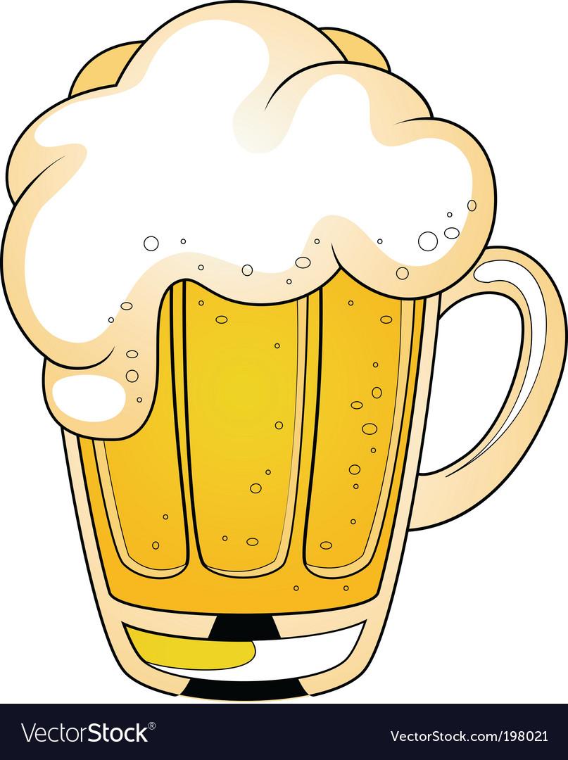 Cartoon beer vector image