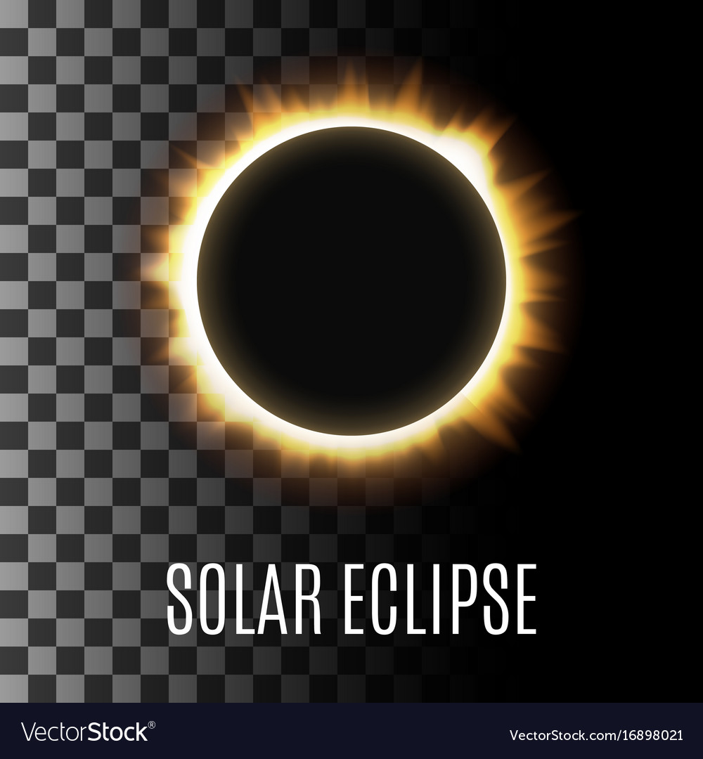 Realistic of a total solar eclipse vector image