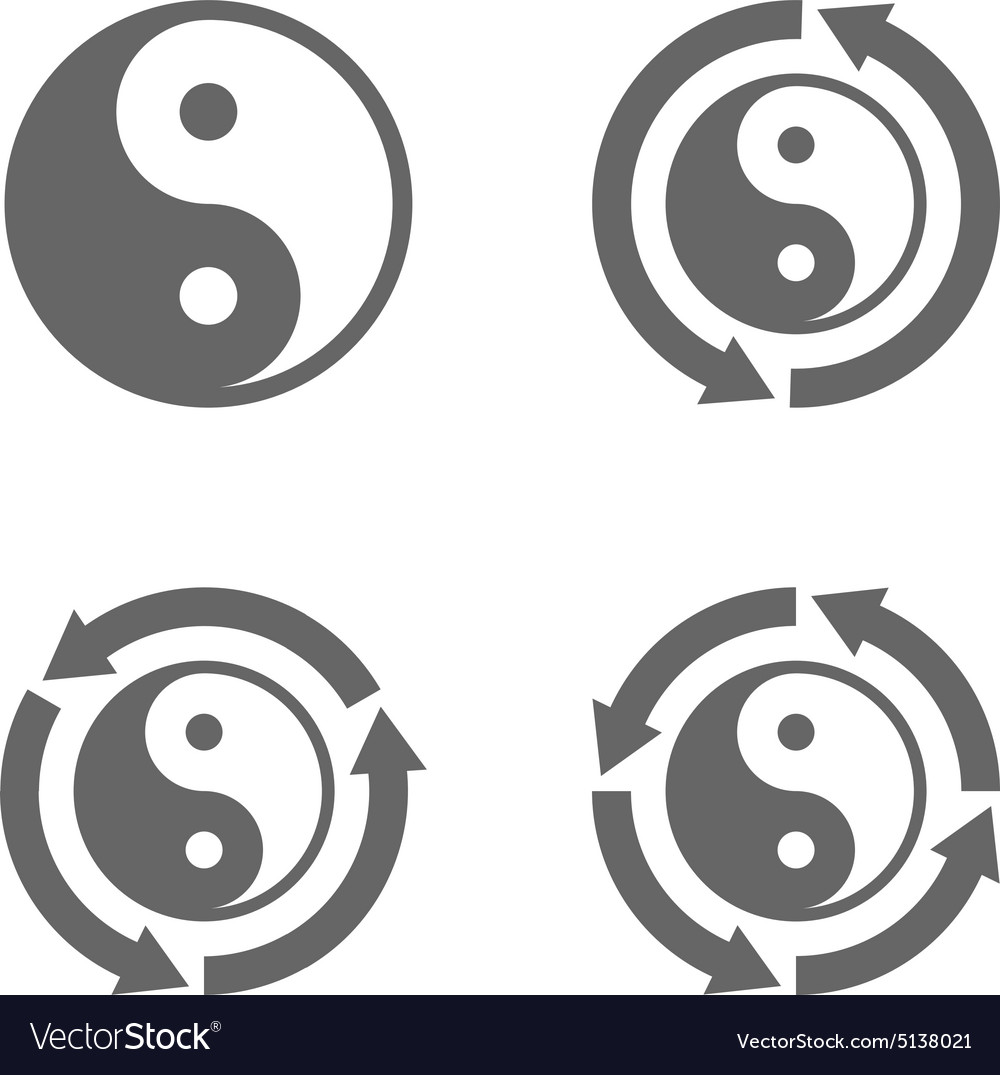 Ying yang eternal moving energy icon vector image