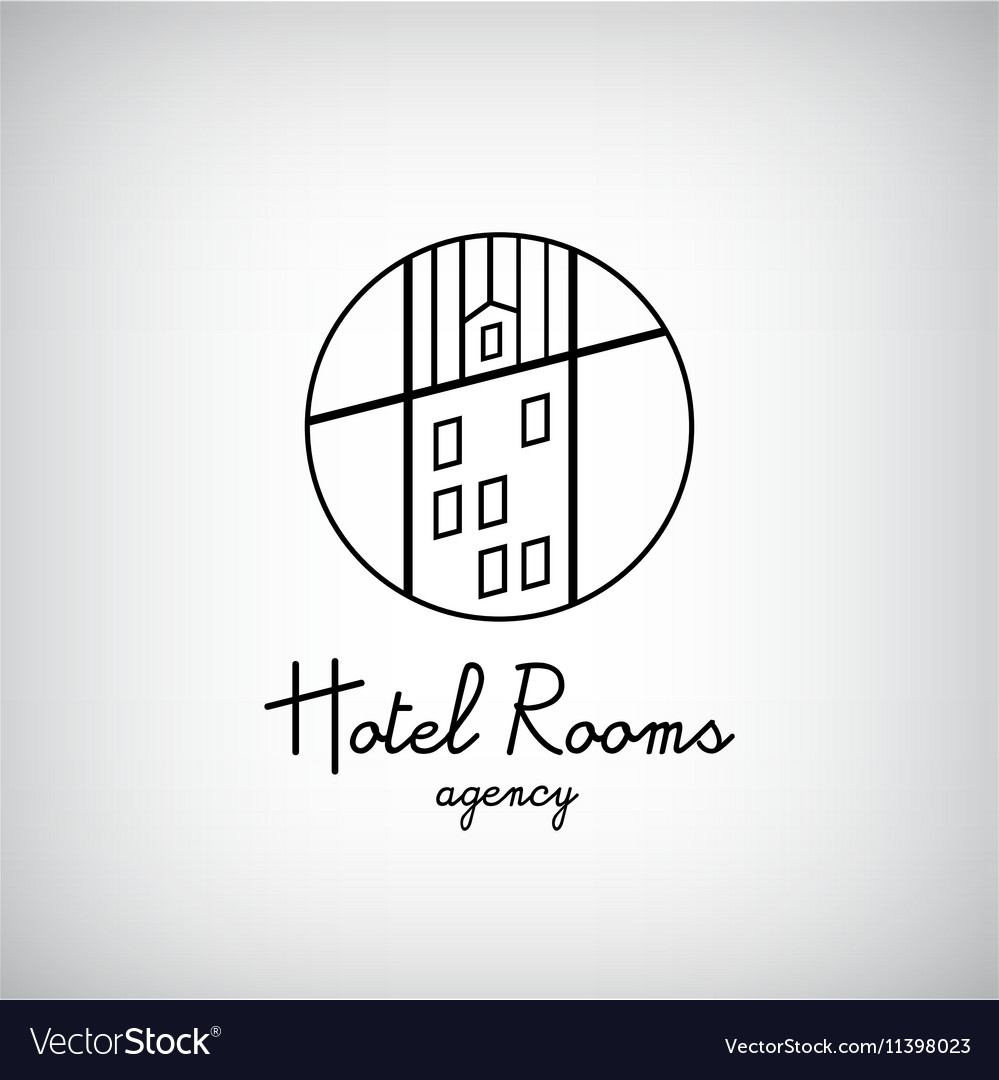 Creative concept symbol for hotel hostel travel vector image