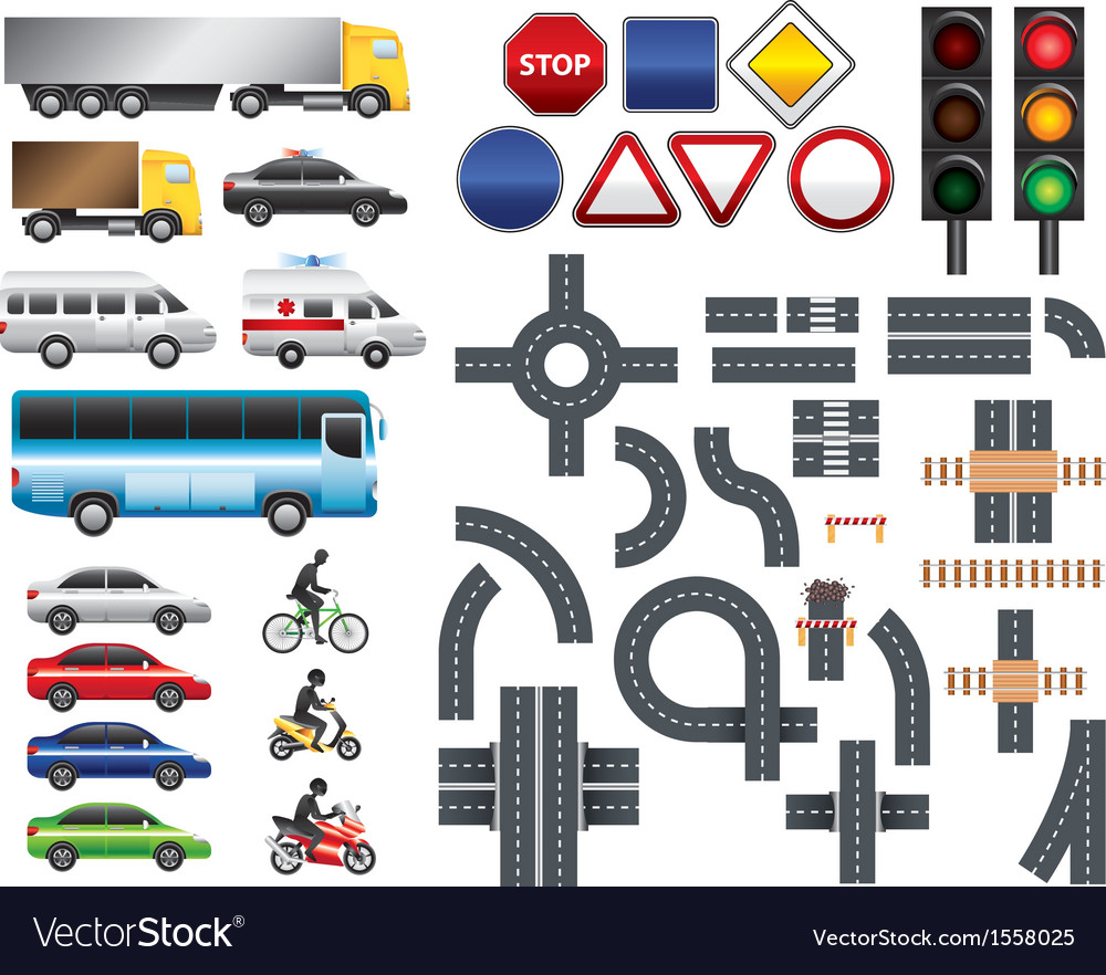 Highway code template vector image