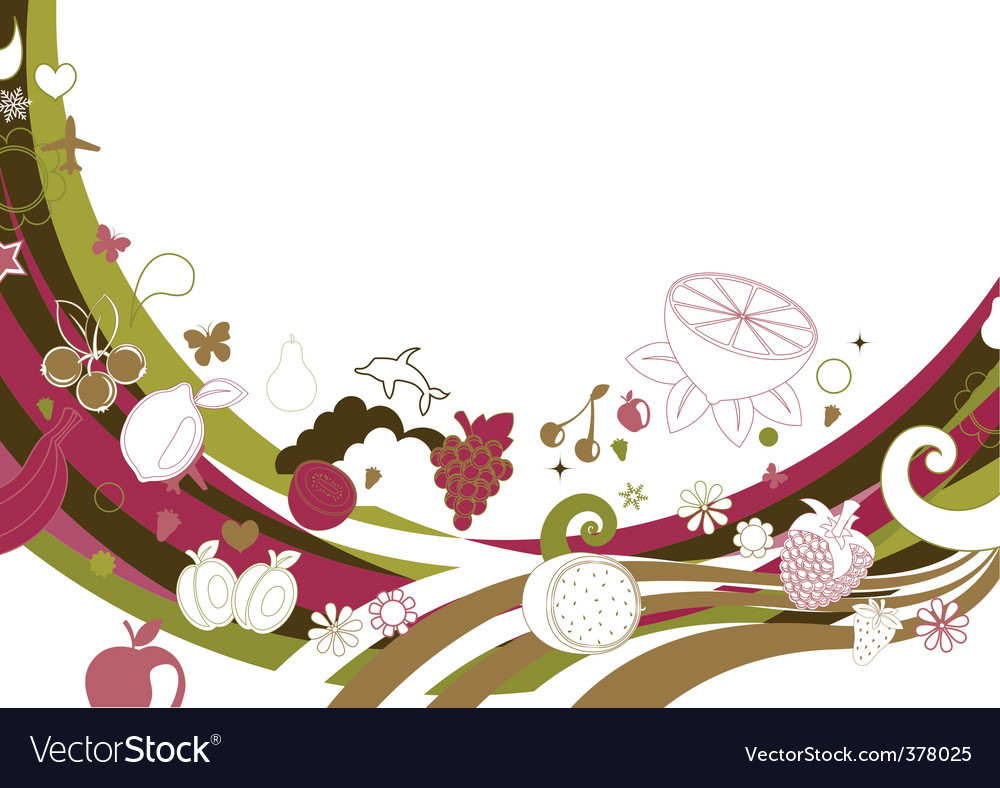 Retro funky background vector image