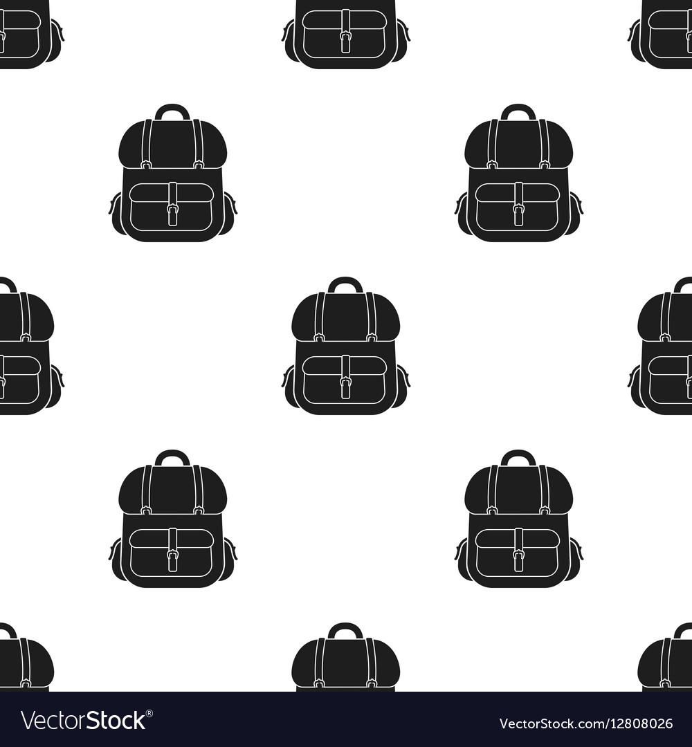 Hunting backpack icon in black style isolated on vector image