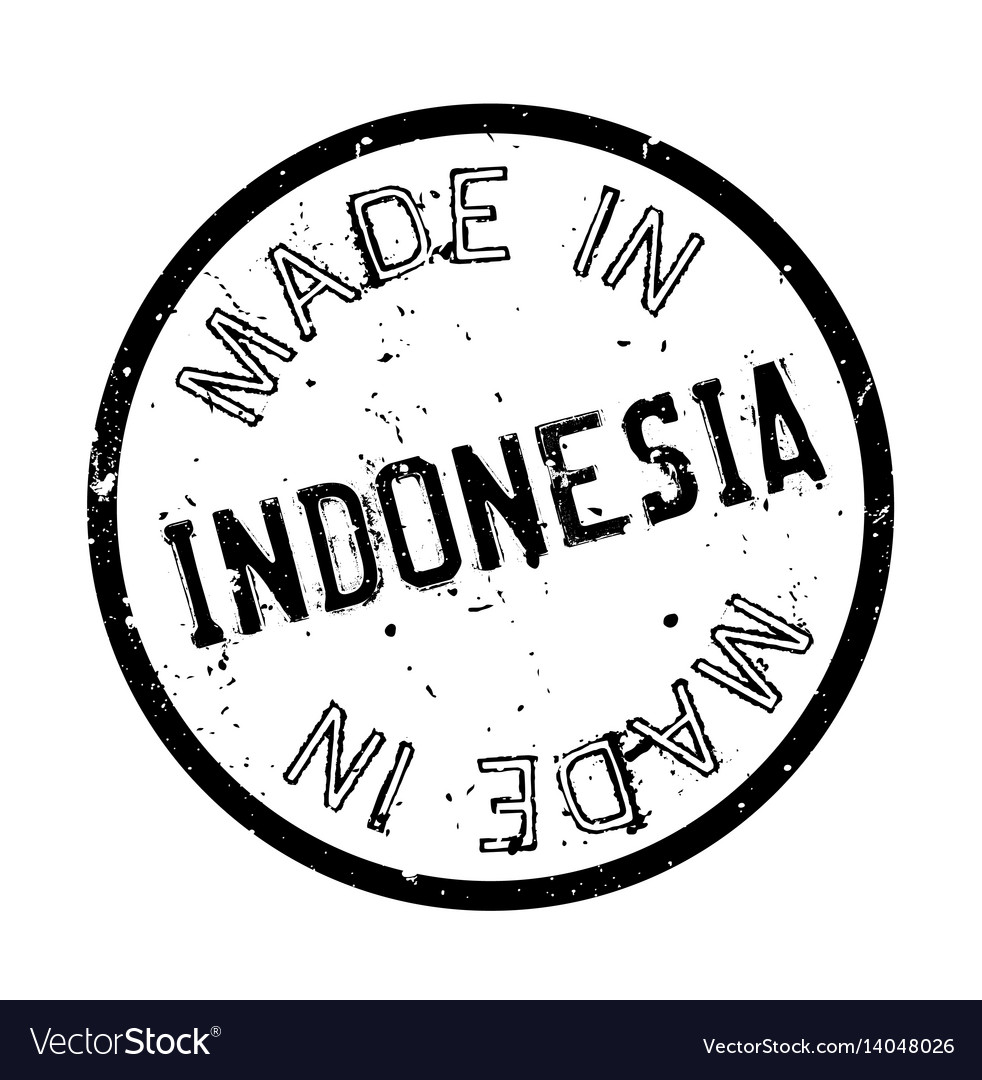 Made in indonesia rubber stamp vector image