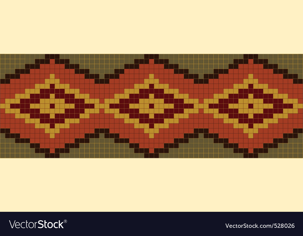 Seamless abstract african ethnic ornament vector image