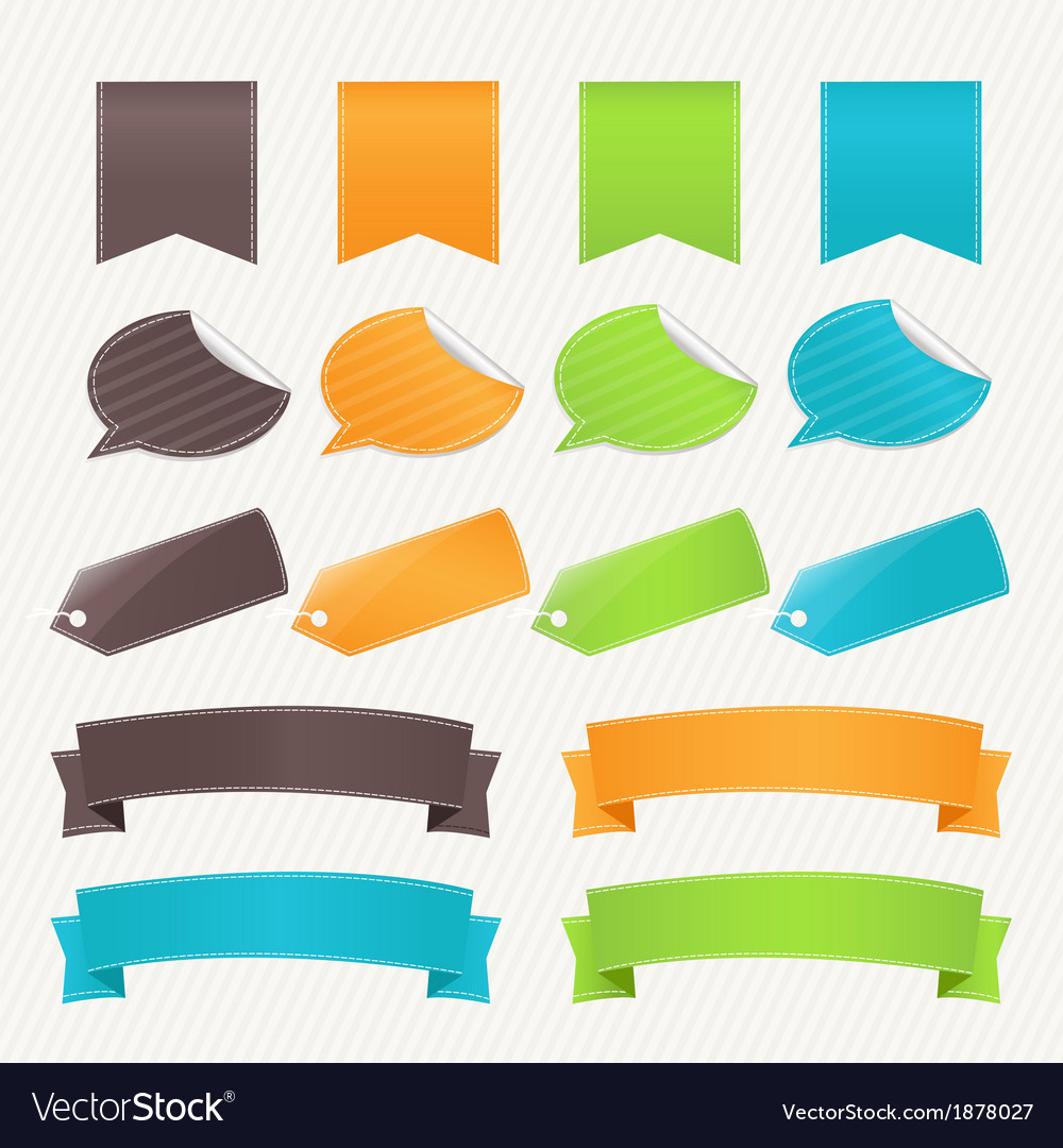 Collection Web Elements vector image