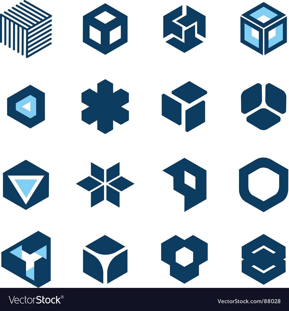 Cube devices vector image