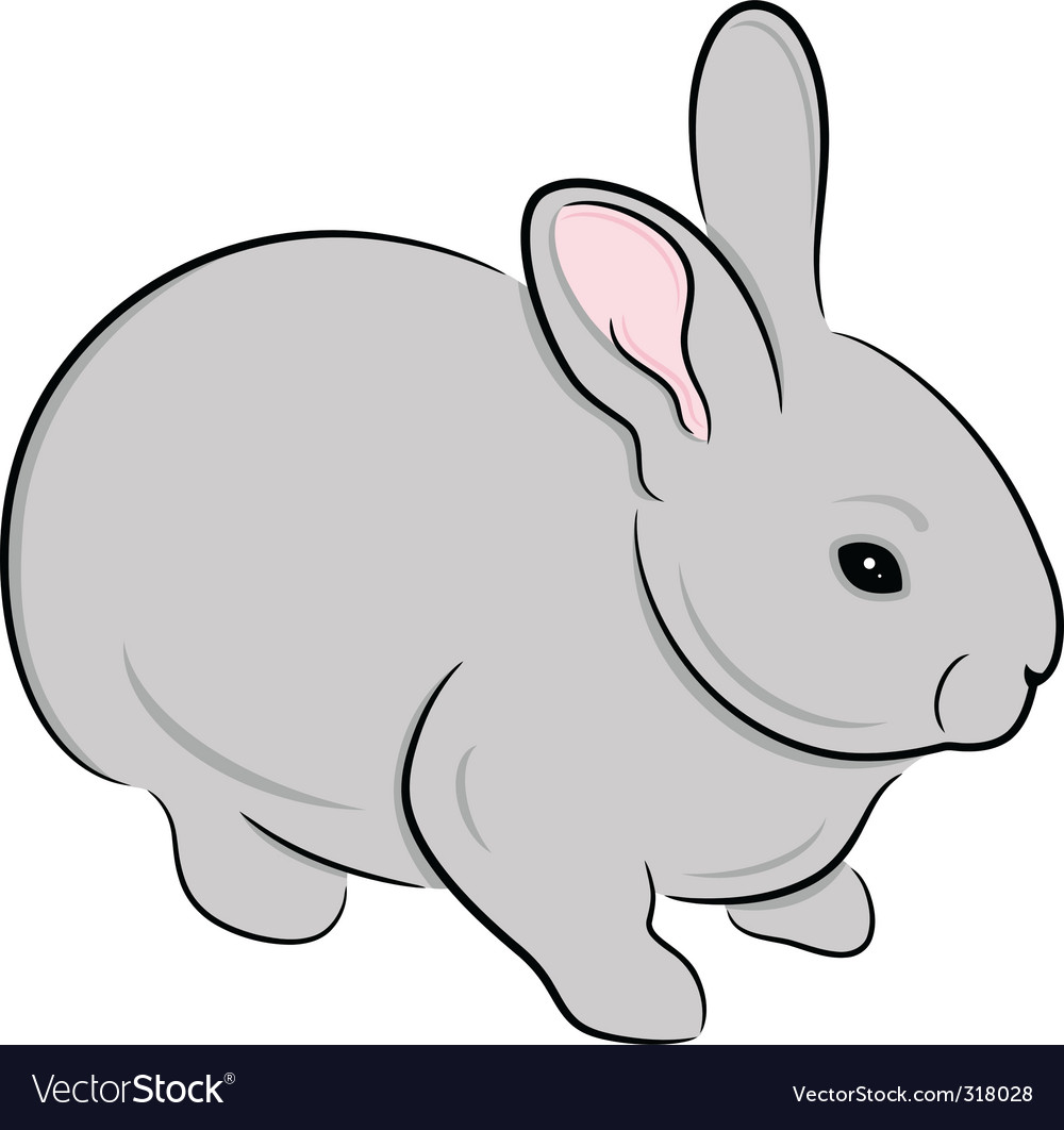 rabbit royalty free vector image vectorstock